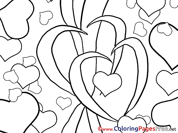 Picture Hearts free Valentine's Day Coloring Sheets