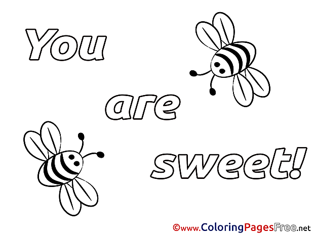 You Are Sweet printable Coloring Pages Valentine's Day