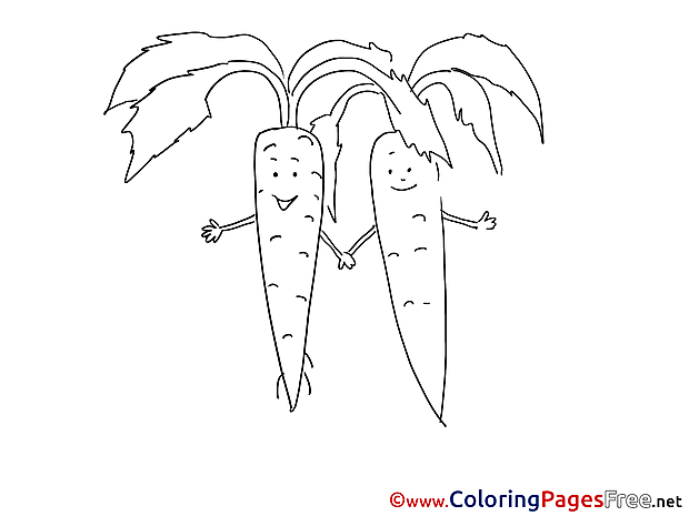 Carrots Coloring Sheets download free