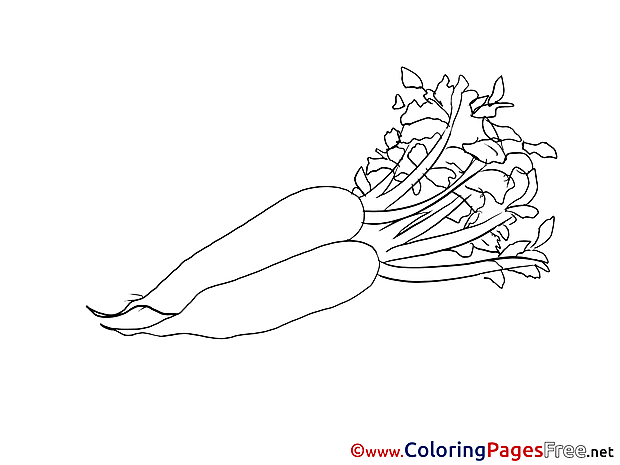 Carrots Kids download Coloring Pages