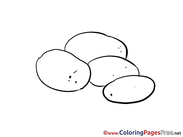For Children free Coloring Pages Potatos
