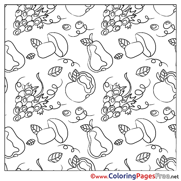 Mushrooms free printable Coloring Sheets