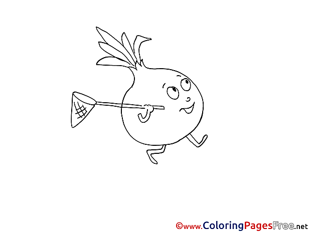 Onion Kids free Coloring Page