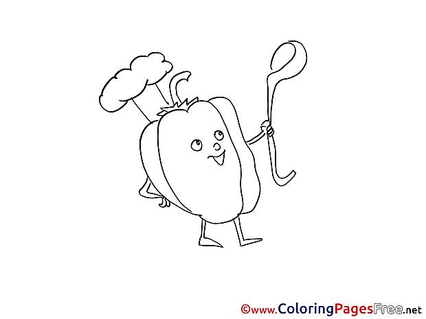 Paprika Colouring Page printable free