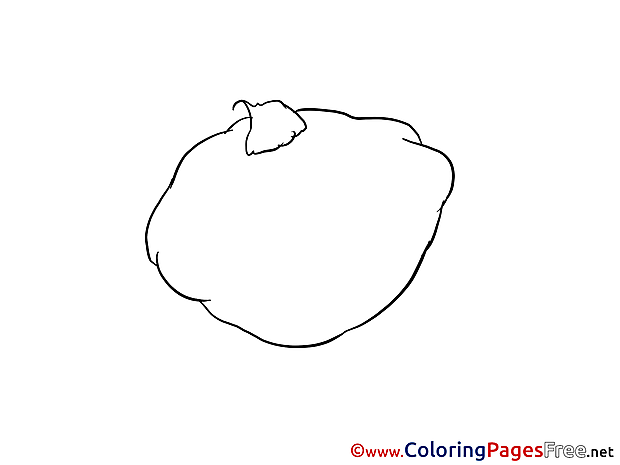 Patisson printable Coloring Pages for free