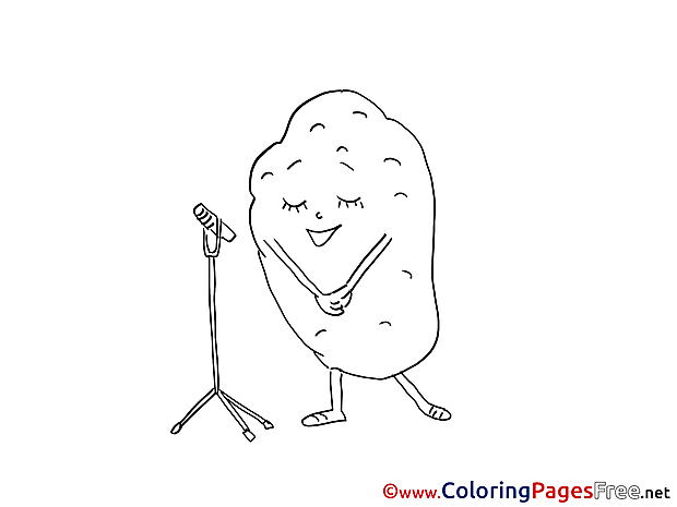 Potato sings printable Coloring Sheets download