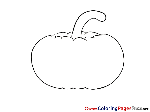 Pumpkin for Kids printable Colouring Page