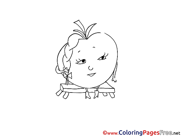 Tomato Colouring Sheet download free