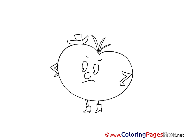 Tomato download printable Coloring Pages