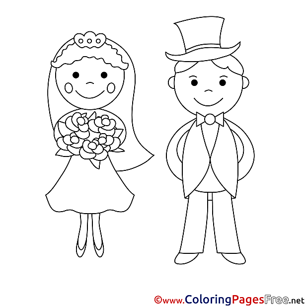 Newlyweds  Colouring Page download for free