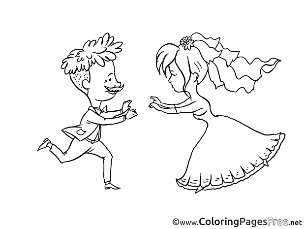Wedding Coloring Pages for free