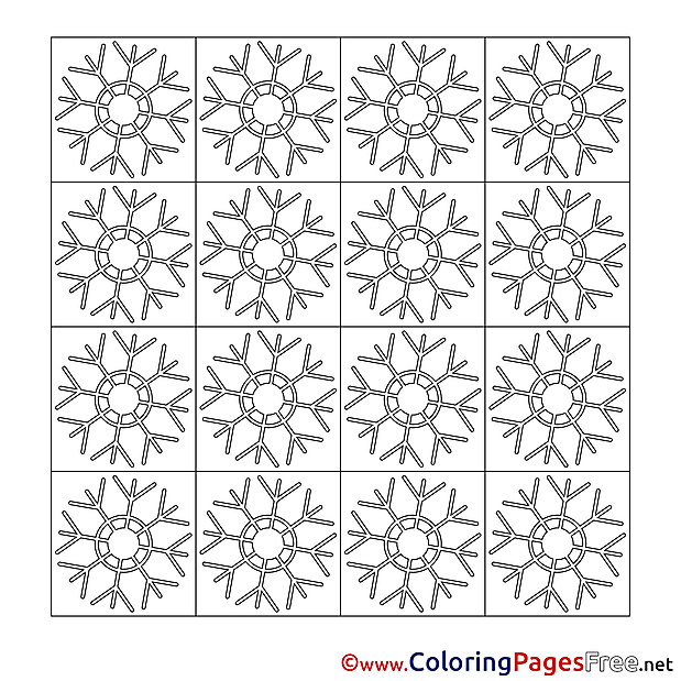 Decoration Winter Colouring Page for Children