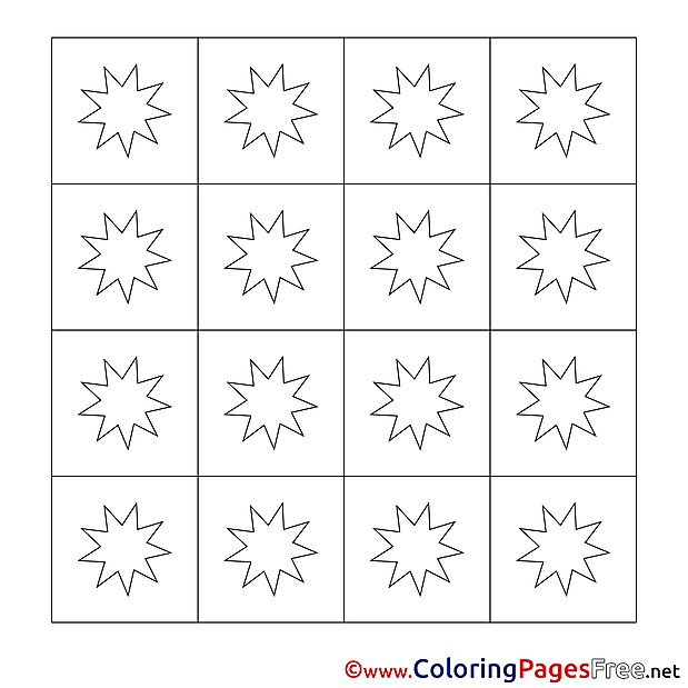 Decoration Winter free Coloring Pages