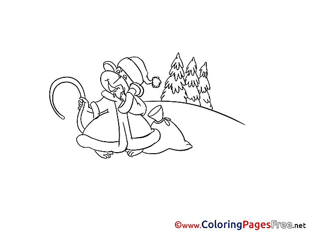 Monkey Winter Sac printable Coloring Sheets