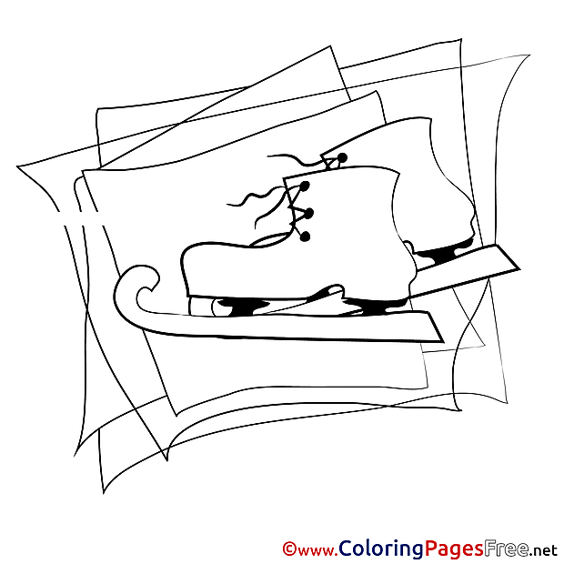 Skates Winter Coloring Pages