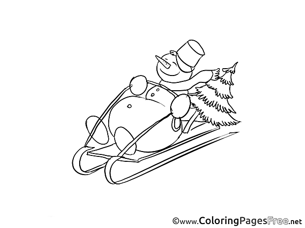 Sleigh Winter Coloring Pages download