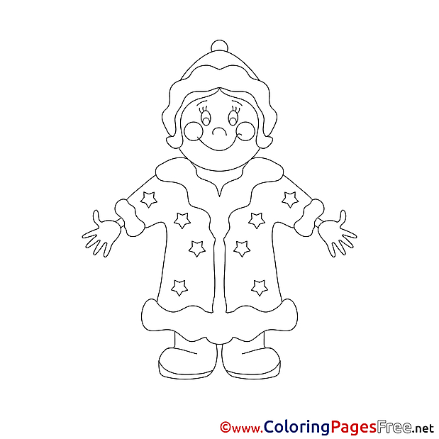 Snow Maiden Winter download Coloring Pages