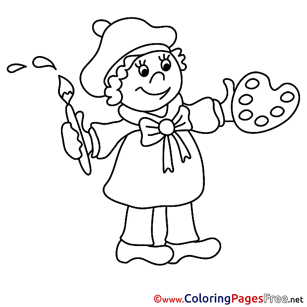 Artist free Colouring Page download