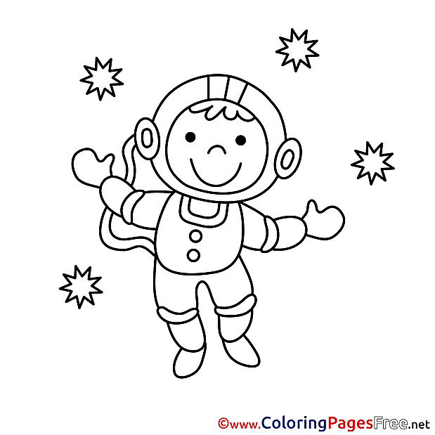 Astronaut Coloring Sheets download free