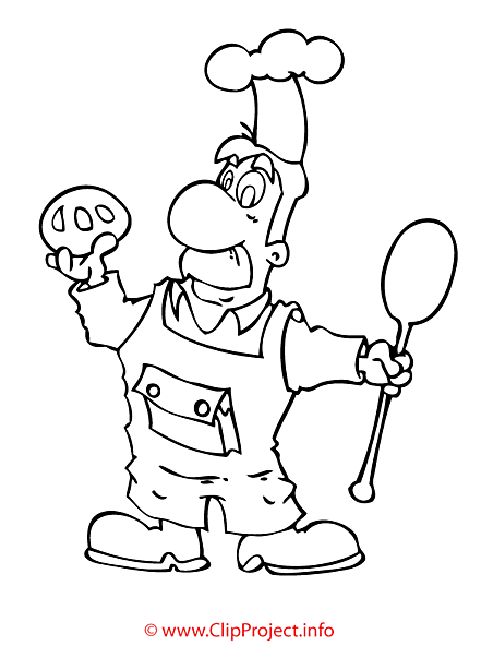 Baker coloring sheet - work coloring pages