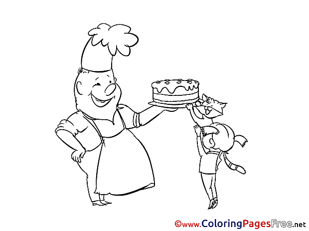 Baker Invitation Coloring Pages download