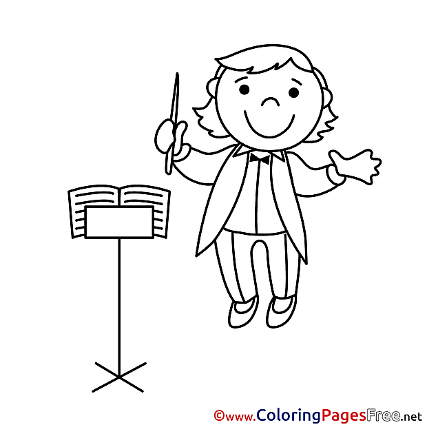 Bandmaster printable Coloring Sheets download