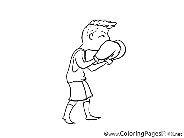 Boxer for Kids printable Colouring Page