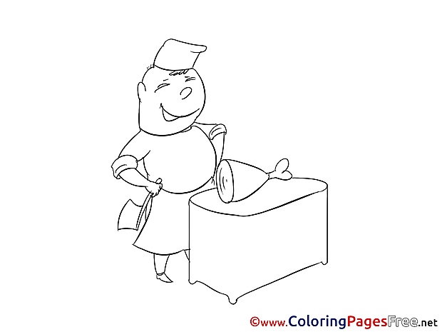 Butcher Colouring Page printable free