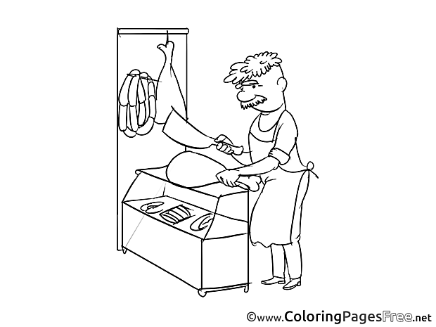 Butcher for free Coloring Pages download