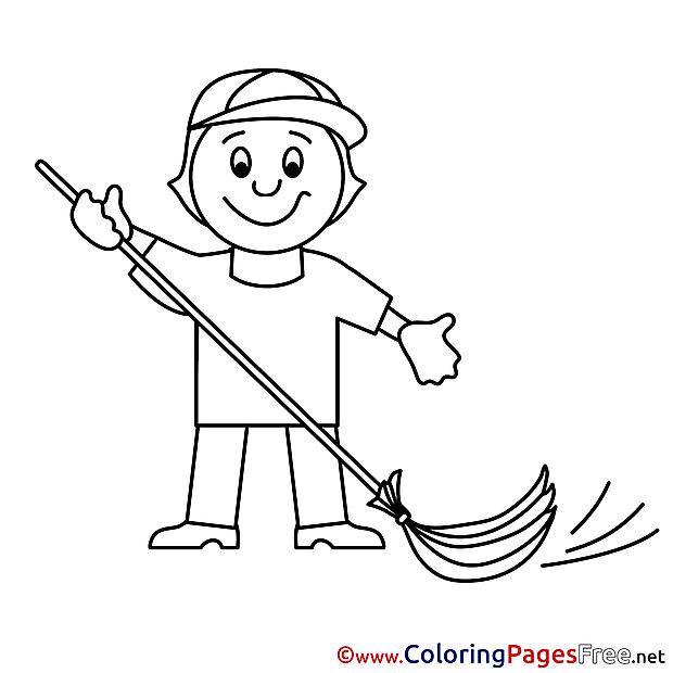 Caretaker download Colouring Sheet free