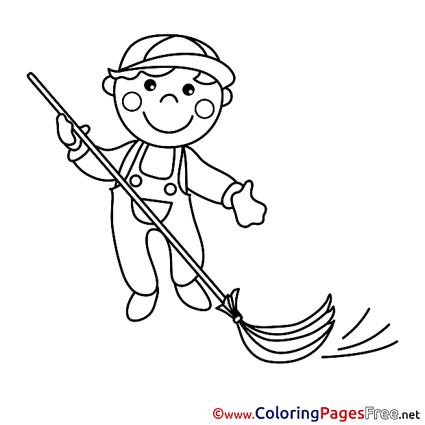 Caretaker for Kids printable Colouring Page