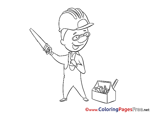 Carpenter Kids Invitation Coloring Pages