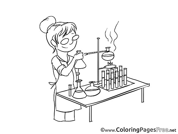 Chemist printable Coloring Sheets download