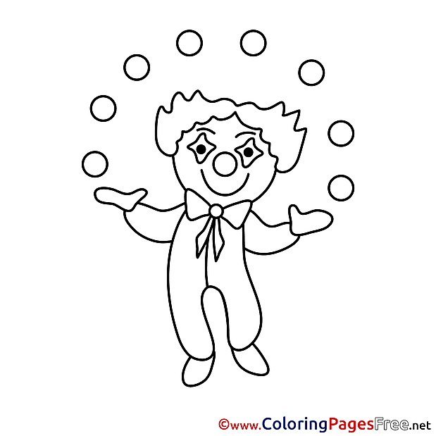 Clown Colouring Sheet download free