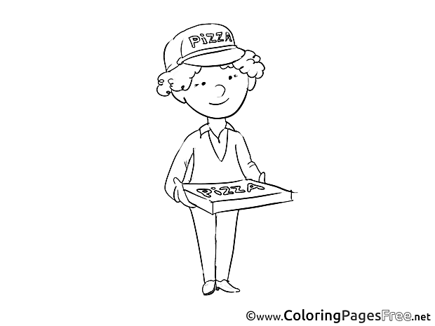 Deliveryman printable Coloring Sheets download