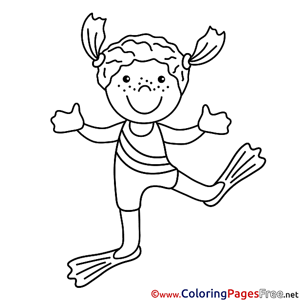 Diver printable Coloring Sheets download