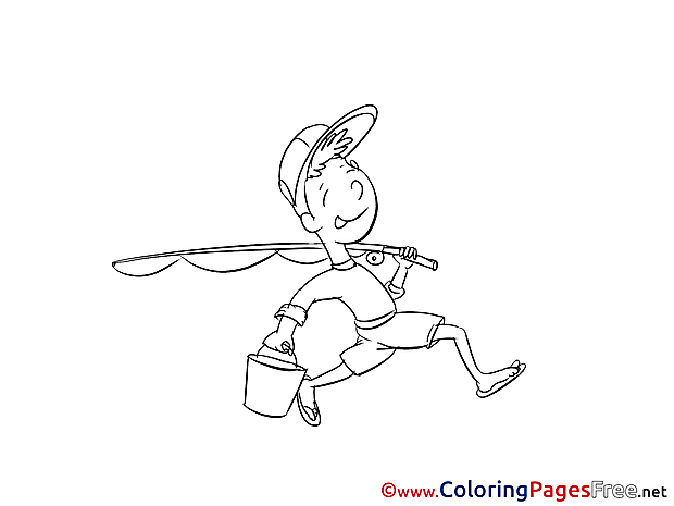 Fisher Colouring Page Invitation free