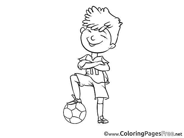 Football Player Colouring Sheet download free