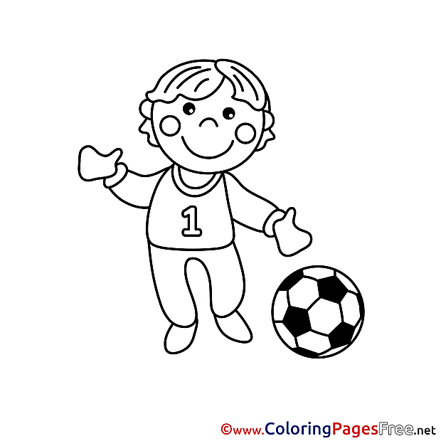 Footballer Coloring Pages for free
