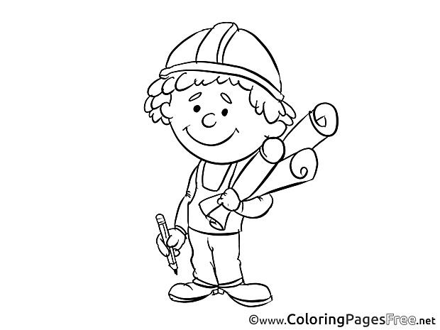 For Children free Coloring Pages Engineer