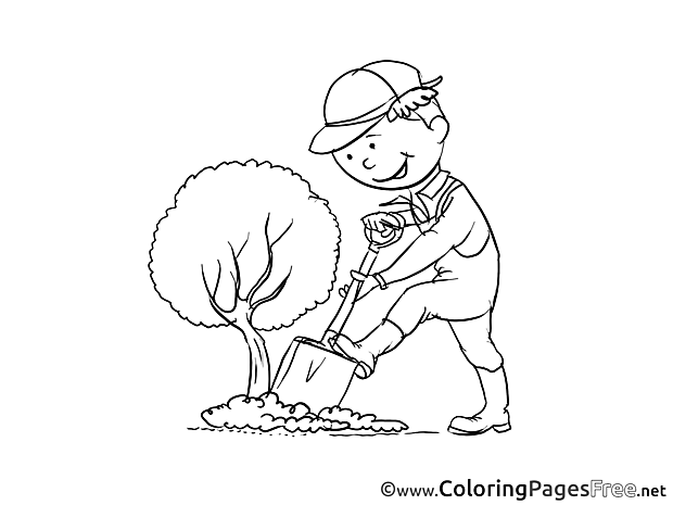 Gardener Coloring Pages for free
