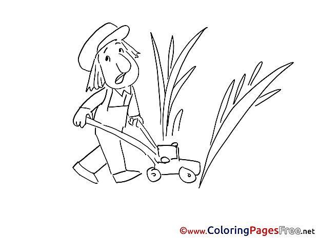 Gardener printable Coloring Sheets download