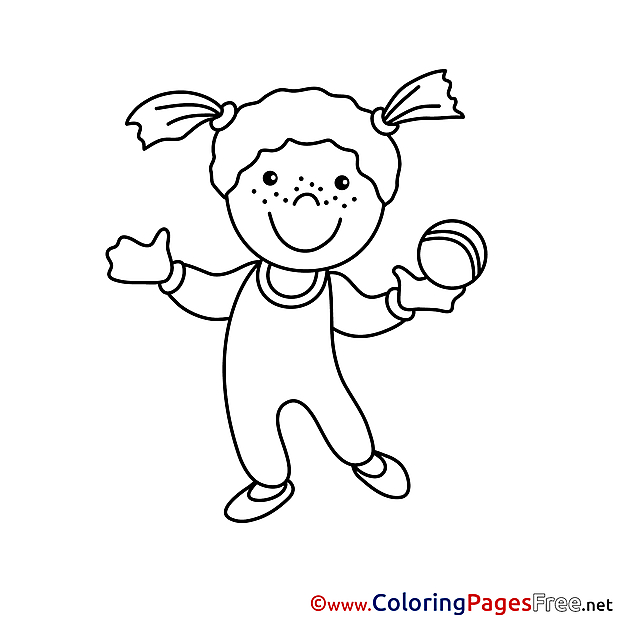 Gymnast free printable Coloring Sheets