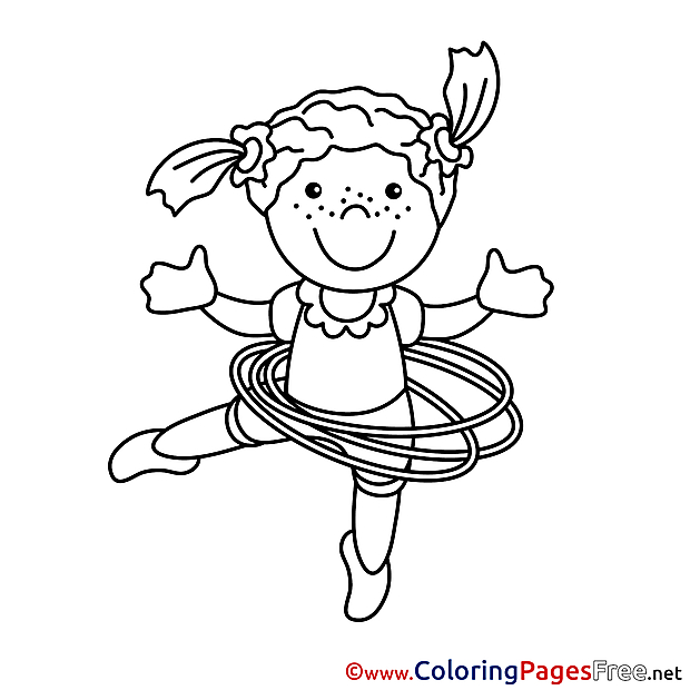 Gymnast printable Coloring Sheets download