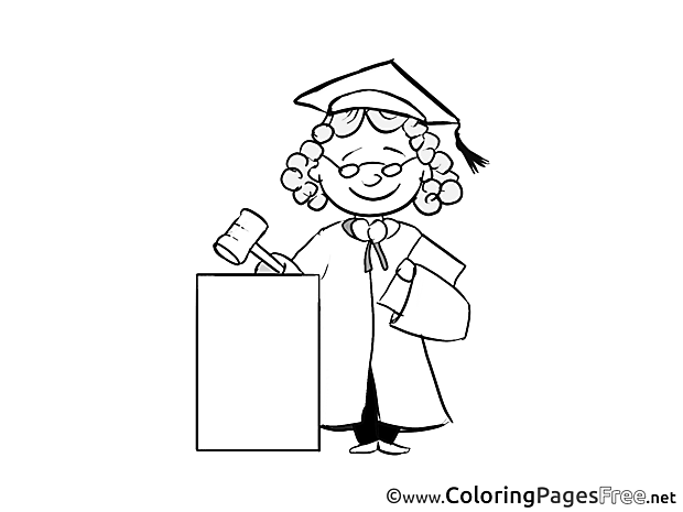 Judge for Children free Coloring Pages