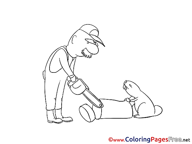 Lumberjack printable Coloring Pages for free