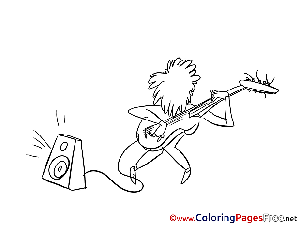 Musician download Invitation Coloring Pages