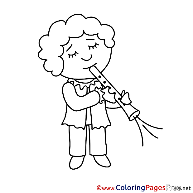 Musician Kids free Coloring Page