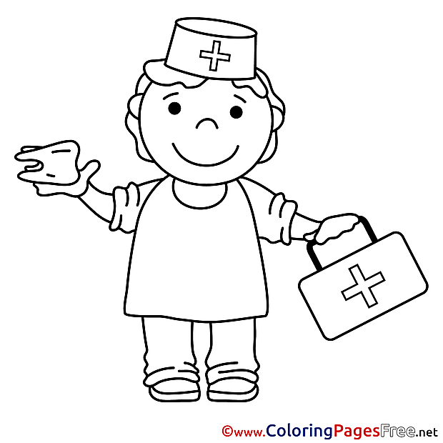 Nurse Colouring Sheet download free