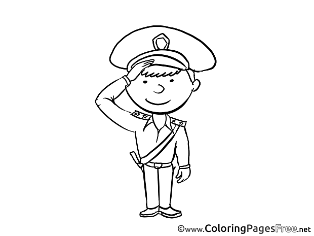 Officer Invitation free Coloring Pages